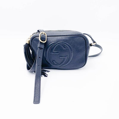 Gucci Soho Disco Pebbled Calfskin Mini Black Shoulder Bag