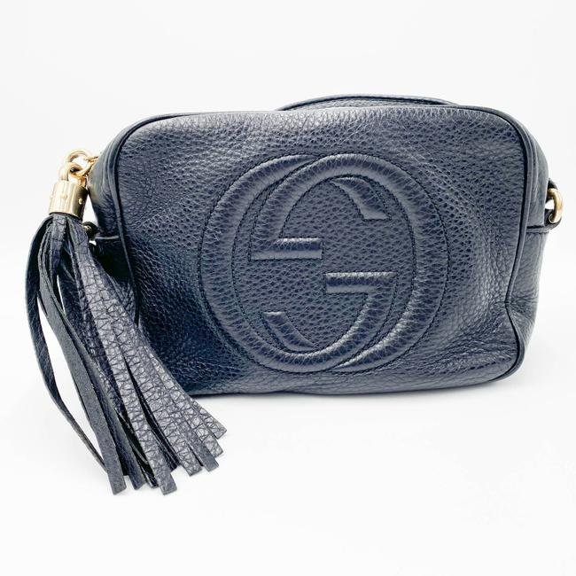 Gucci Soho Disco Pebbled Calfskin Small Black Leather Shoulder Bag