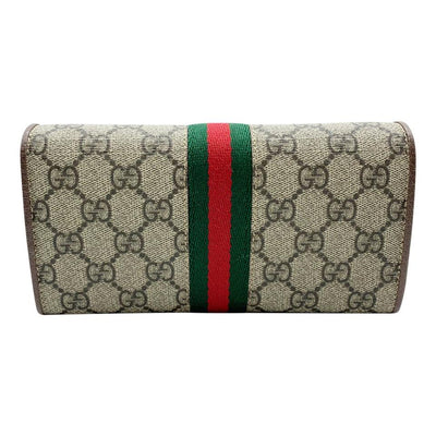 Gucci Wallet on Chain Ophidia Flap Brown Gg Supreme Canvas Shoulder Bag