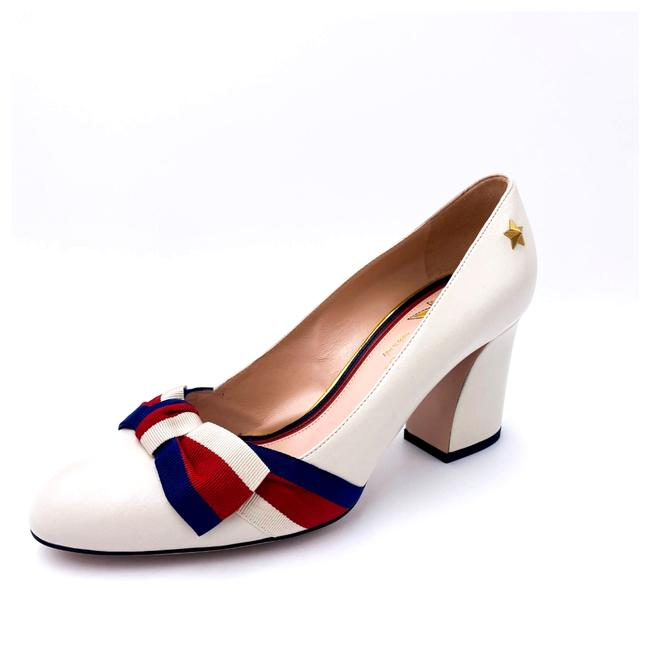 Gucci White Aline Block Heel 2020 Pumps