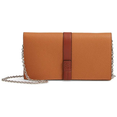 Loewe Wallet On A Chain Brown Leather Shoulder Bag