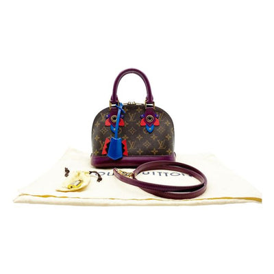 Louis Vuitton Alma Totem Bb Magenta Purple Monogram Canvas Cross Body Bag