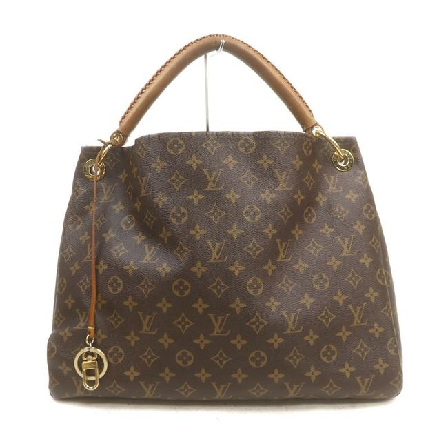 Louis Vuitton Artsy Monogram Mm Brown Canvas Shoulder Bag