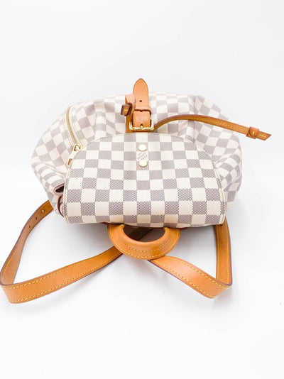 Louis Vuitton Backpack Sperone White Damier Azur Canvas Shoulder Bag