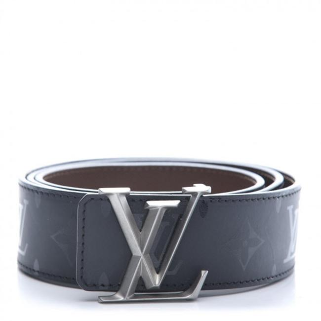 Louis Vuitton Black Calfskin Monogram Eclipse 40mm Lv Initiales Reversible Belt