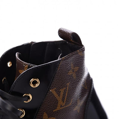 Louis Vuitton Brown Patent Monogram Calfskin Star Trail Ankle Black Boots/Booties U.S. 10