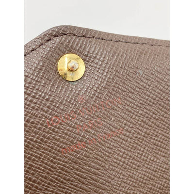 Louis Vuitton Brown Sarah Damier Ebene Wallet