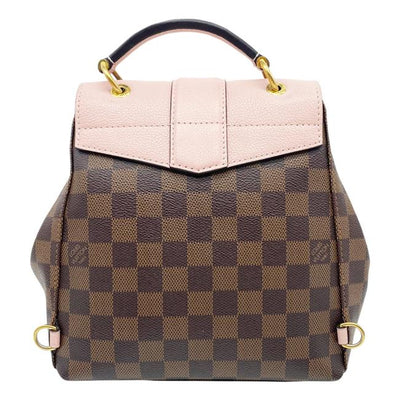 Louis Vuitton Clapton Magnolia Pink Damier Ebene Canvas Backpack