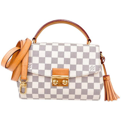Louis Vuitton Croisette White Damier Azur Canvas Shoulder Bag