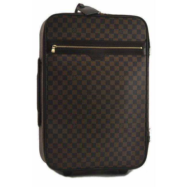 Louis Vuitton Damier Ebene Pegase 55 Brown Canvas Weekend/Travel Bag
