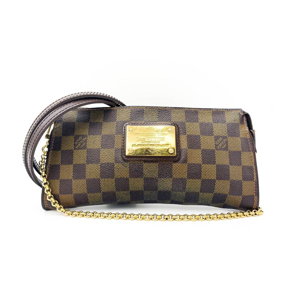 Louis Vuitton Eva Damier Ebene Brown Canvas Cross Body Bag