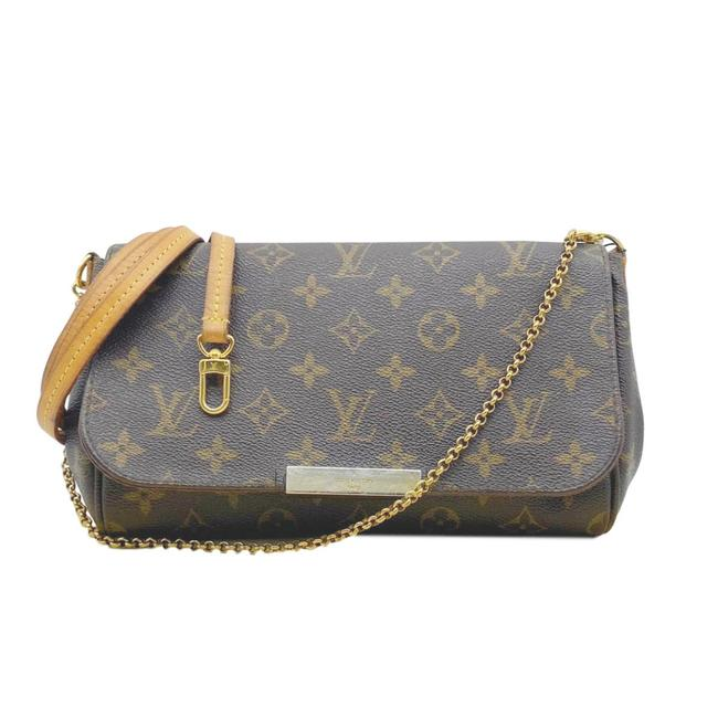 Louis Vuitton Favorite Mm Monogram Brown Coated Canvas Cross Body Bag