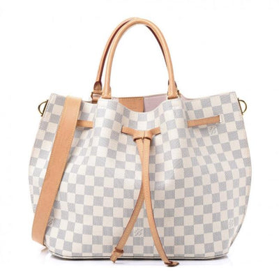 Louis Vuitton Girolata White Damier Azur Canvas Satchel