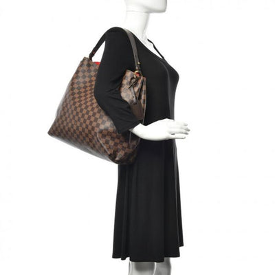 Louis Vuitton Graceful Mm 2019 Brown Damier Ebene Canvas Hobo Bag