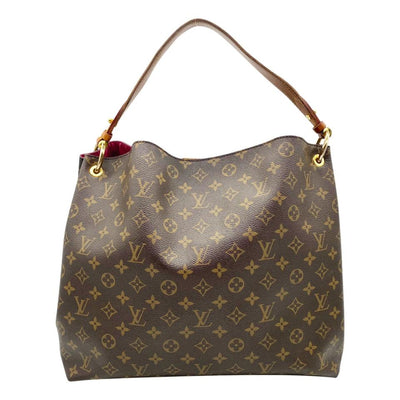 Louis Vuitton Graceful Mm Pivoine Brown Monogram Canvas Satchel