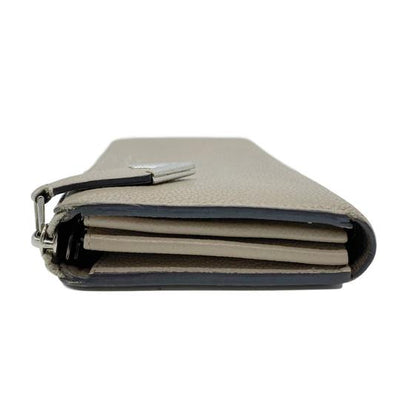 Louis Vuitton Grey Galet Veau Cachemire Leather Comete Wallet