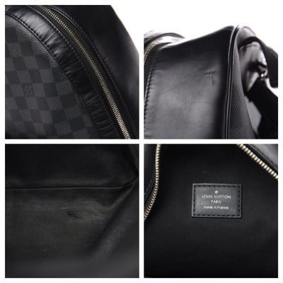 Louis Vuitton Josh Black Damier Graphite Canvas Backpack