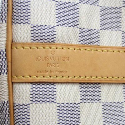 Louis Vuitton Keepall Damier Azur Bandouliere 55 White Canvas Weekend/Travel Bag
