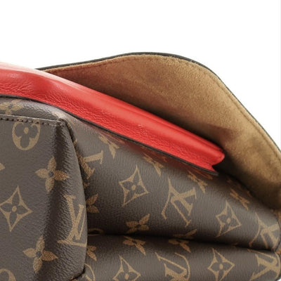 Louis Vuitton Marignan Handbag Monogram With Brown Red Canvas (Coated) Leather Cross Body Bag