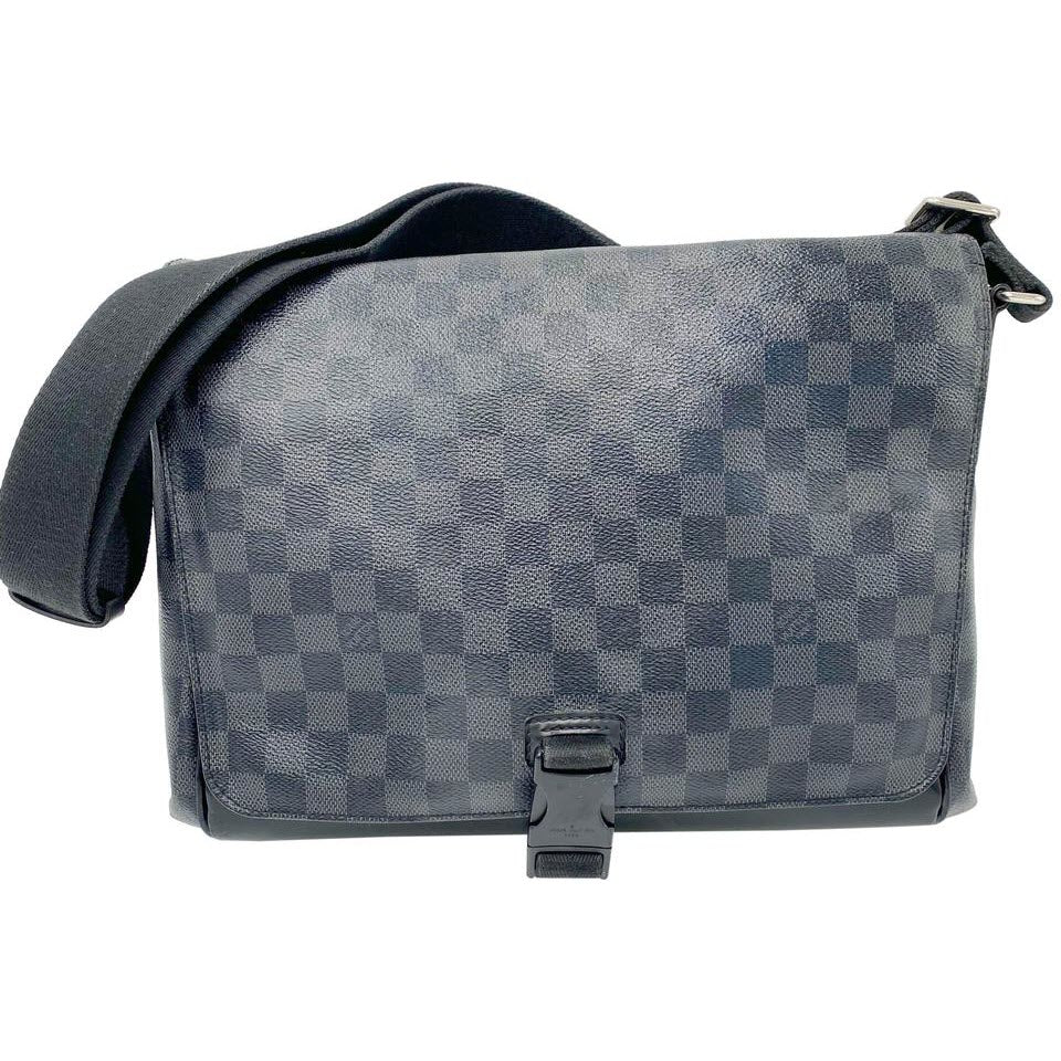 Louis Vuitton Messenger Black Damier Graphite Canvas Laptop Bag