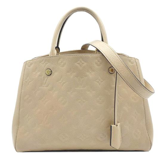 Louis Vuitton Montaigne Beige Monogram Empreinte Leather Shoulder Bag