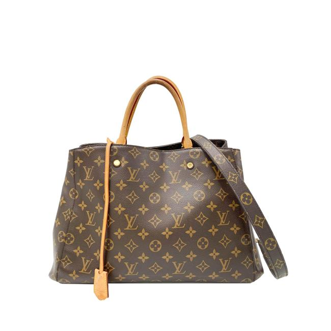Louis Vuitton Montaigne Gm Brown Monogram Canvas Tote