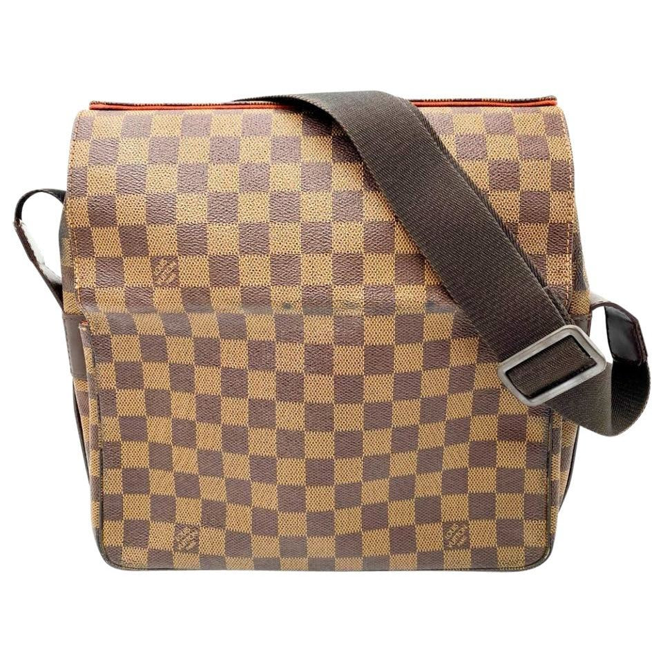 Louis Vuitton Naviglio Damier Ebene Brown Canvas Messenger Bag