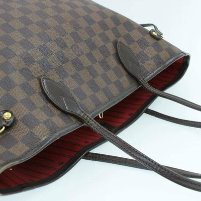 Louis Vuitton Neverfull Bag Damier Ebene Mm N51105 Brown Canvas Tote