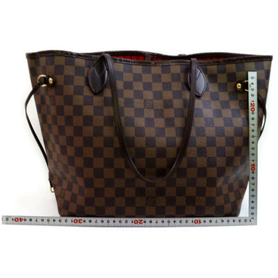 Louis Vuitton Neverfull Bag Mm Damier Ebene Brown Canvas Tote
