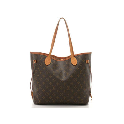 Louis Vuitton Neverfull Bag Mm M40156 Brown Monogram Canvas Tote