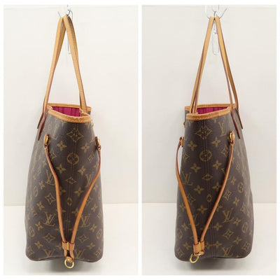 Louis Vuitton Neverfull Brown Monogram Canvas Tote