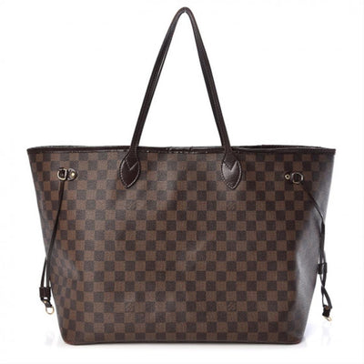 Louis Vuitton Neverfull Damier Ebene Gm Brown Canvas Tote