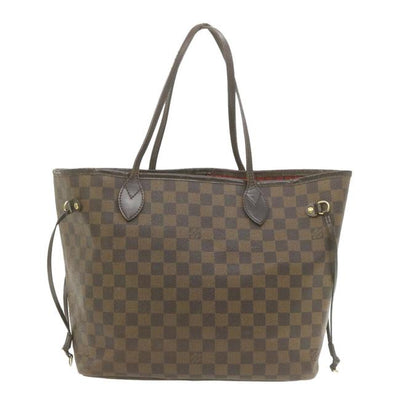 Louis Vuitton Neverfull Damier Ebene Mm Brown Canvas Tote