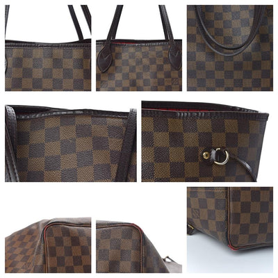 Louis Vuitton Neverfull Gm Damier Ebene Brown Coated Canvas Tote