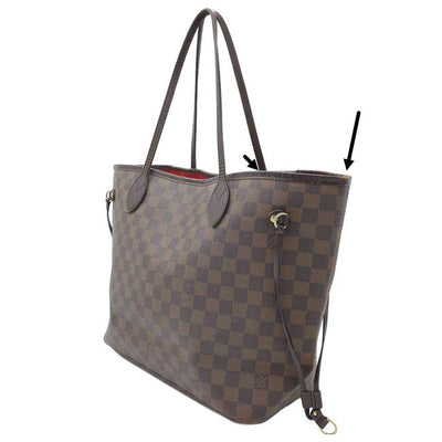 Louis Vuitton Neverfull Mm Brown Damier Ebene Canvas Tote