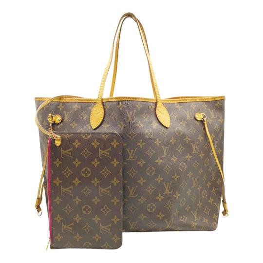Louis Vuitton Neverfull Neo Gm Pivoine with Pouch Brown Monogram Canvas Tote