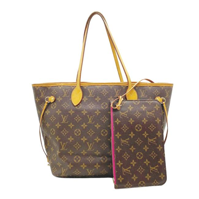 Louis Vuitton Neverfull Neo Mm Pivoine Pink Brown Monogram Canvas Tote