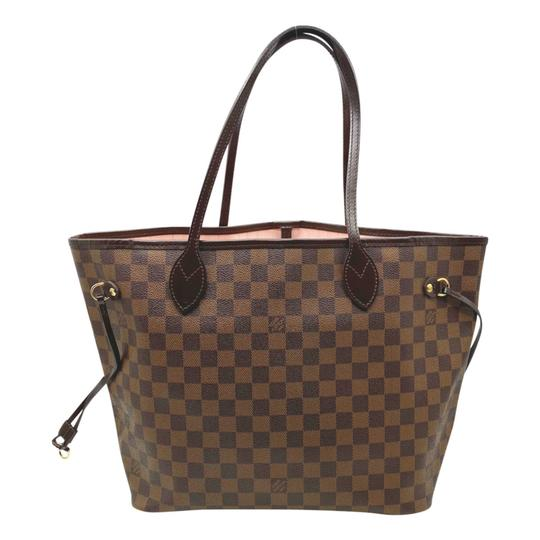 Louis vuitton Neverfull Neo Mm Rose Ballerine Brown Damier Ébène Canvas Tote