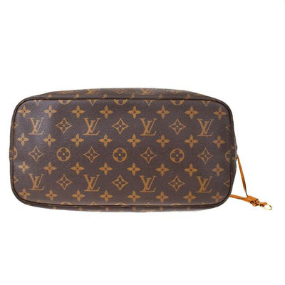 Louis Vuitton Neverfull Neo Monogram Mm Fuchsia Brown Canvas Tote