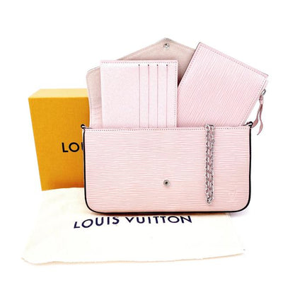 Louis Vuitton Pochette Felicie Rose Ballerine Pink Epi Leather Shoulder Bag