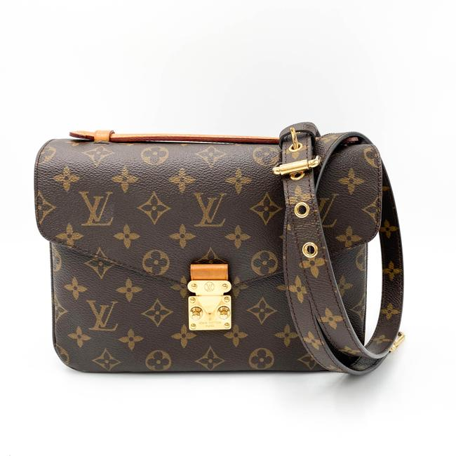Louis Vuitton Pochette Metis Brown Monogram Canvas Shoulder Bag