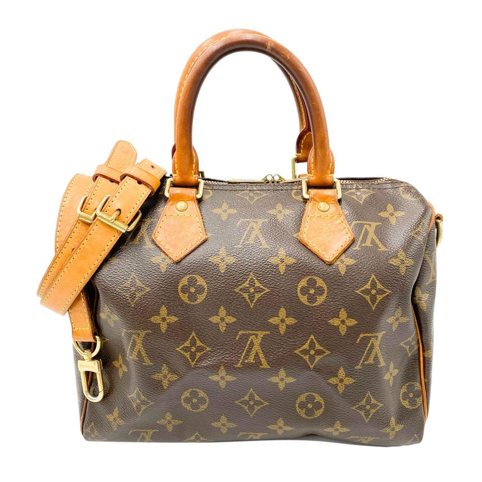 Louis Vuitton Speedy Bandouliere 25 Brown Monogram Canvas Tote