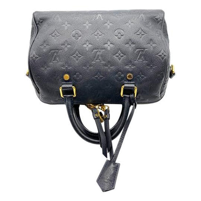 Louis Vuitton Speedy Bandouliere 25 Infini Black Monogram Empreinte Leather Shoulder Bag
