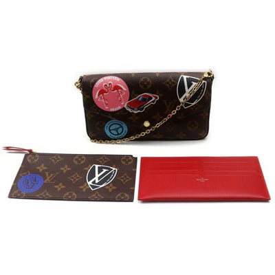 LOUIS VUITTON Monogram World Tour Pochette Felicie
