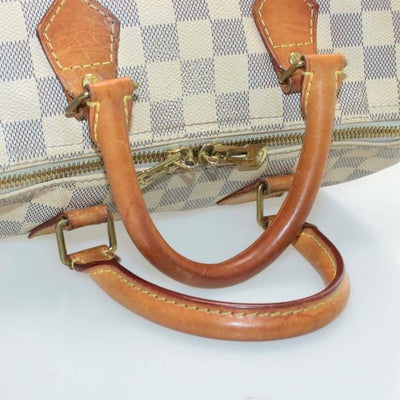 Louis Vuitton Speedy Damier Azur Bandouliere 25 White Canvas Shoulder Bag