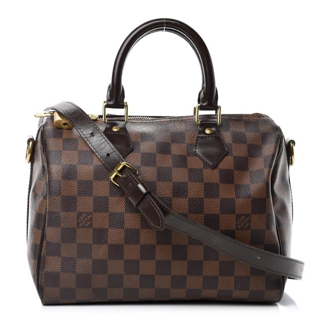 Louis Vuitton Speedy Damier Ebene Bandouliere 25 Brown Canvas Shoulder Bag
