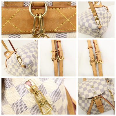 Louis Vuitton Sperone Mini Damier Azur White Canvas Backpack
