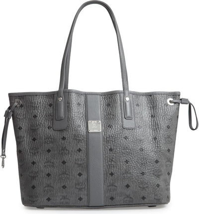 MCM Medium Liz Reversible Shopper 2019 Grey Coated Canvas Tote
