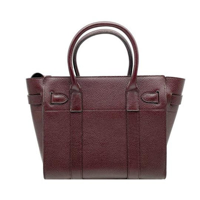 Mulberry Small Bayswater Satchel Burgundy Oxblood Red Leather Tote