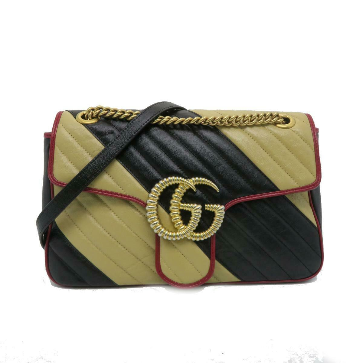 Gucci GG Marmont Medium Matelasse Chain Shoulder Bag Chevron Leather